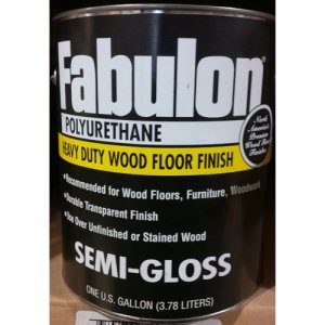 Fabulon Polyurethane - Hardwood Floor Finish - Clear Semi-Gloss