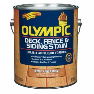 Olympic Exterior Wood Stain Fence Finish - Semi-Transparent Colors