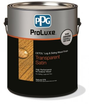 PPG Cetol Log & Siding - Exterior Wood Finish - 1 Gallon, Transparent Satin - 005 Natural Oak