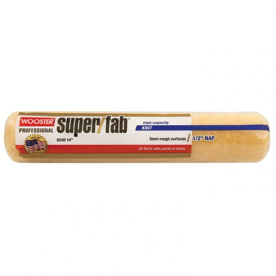 "Wooster SUPER/FAB® 14"" Roller Cover 1/2"" Nap - Case of 12 - Click Image to Close"