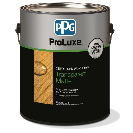 PPG Cetol SRD - Exterior Wood Stain Deck Finish, 1 Gallon, Matte - 085 Teak - Click Image to Close