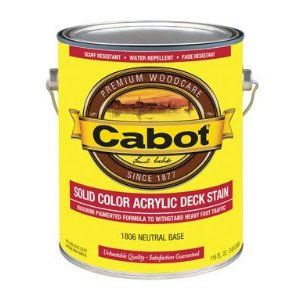 Cabot 1600 Solid Deck Stain - Exterior Wood Finish - Many Colors