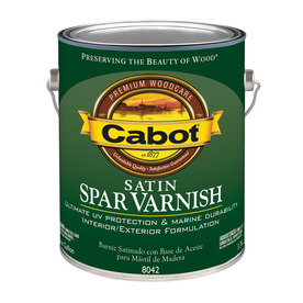 Cabot Spar Varnish - Wood Stain and Marine Varnish - Satin