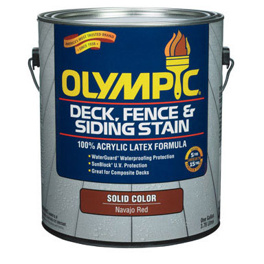 Olympic Solid Deck Stain - Exterior Wood Finish - Base 2 Colors