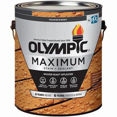 Olympic Maximum Wood Toner - Waterproofing Sealant - 1 Gallon, Canyon Brown